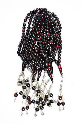 İhvan - 33'lü Tesbih Siyah Kırmızı Desenli 10 ADET