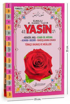Fetih Yayınları - 41 Yasin Kitabı - Cami Boy - 160 Sayfa - Elmalılı M. Hamdi Yazır Mealli - Fetih Yayınları - Mevlid Hediyeliği
