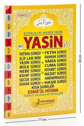 Fetih Yayınları - 41 Yasin Kitabı - Orta Boy - 128 Sayfa - Fetih Yayınları - Mevlid Hediyeliği