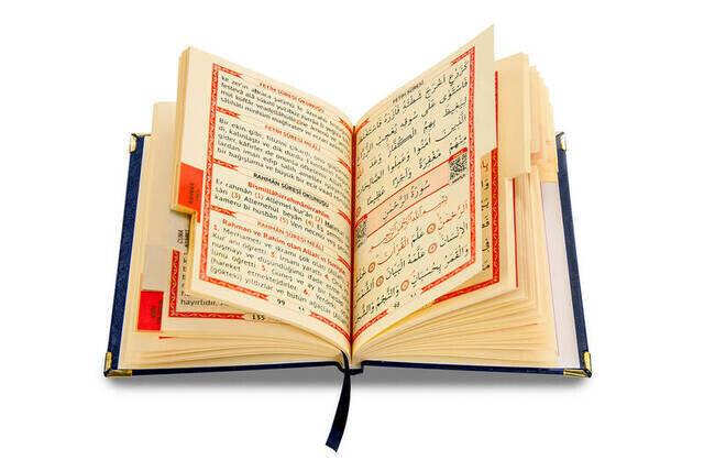 50 ADET - İsim Baskılı Ciltli Yasin Kitabı - Çanta Boy - 208 Sayfa - Lacivert Renk - Mevlid Hediyeliği