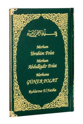 İhvan - 50 ADET - İsim Baskılı Ciltli Yasin Kitabı - Orta Boy - 128 Sayfa - Yeşil Renk - Cemiyet Hediyeliği