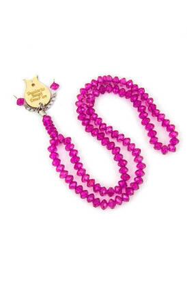 İhvan - 99-Piece Crystal Hajj Umrah Gift Rosary Fuchsia