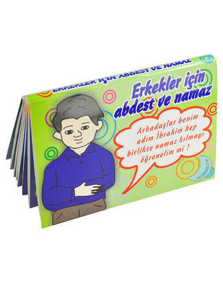İhvan - Ablution and Prayer Chart for Children (Male) -1187