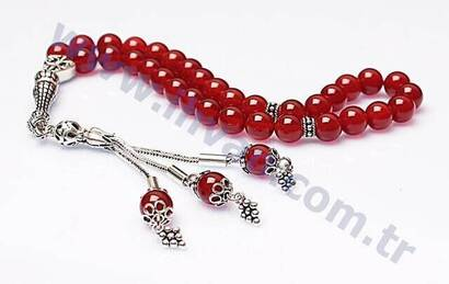 İhvan - Agate Stone Rosary (925 Sterling Silver)