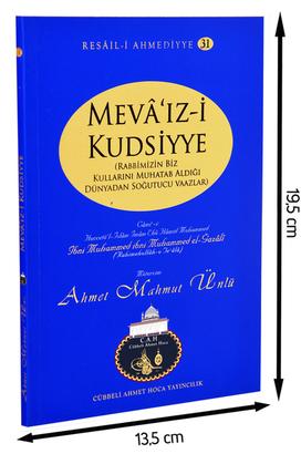 Cübbeli Ahmet Hoca Yayıncılık - Ahmet Mahmut Ünlü - Mevâ'ız-i Kudsiyye - Kudsî Vaazlar-1167