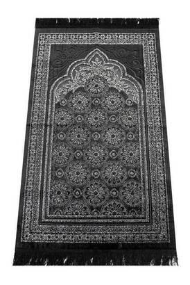İhvan - Akrilik Polyester Simli Seccade - Siyah Renk