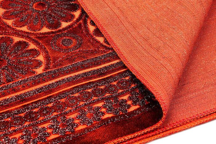 Akrilik Polyester Simli Seccade Tesbih Hediyeli Kiremit Rengi