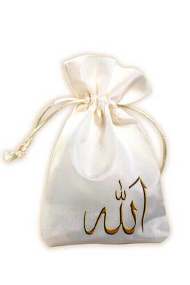 İhvan - Allah Lafızlı Baskılı Kese 99'lu Tesbih-3156