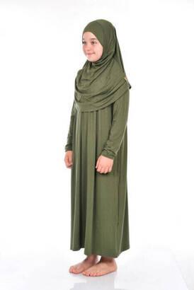 Anne Kız Tek Parça Namaz Elbisesi Seccade Set 2