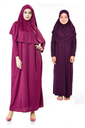 İhvan - Anne Kız Tek Parça Namaz Elbisesi Set 1