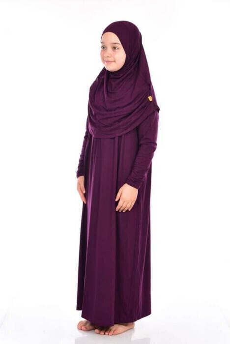 Anne Kız Tek Parça Namaz Elbisesi Set 1