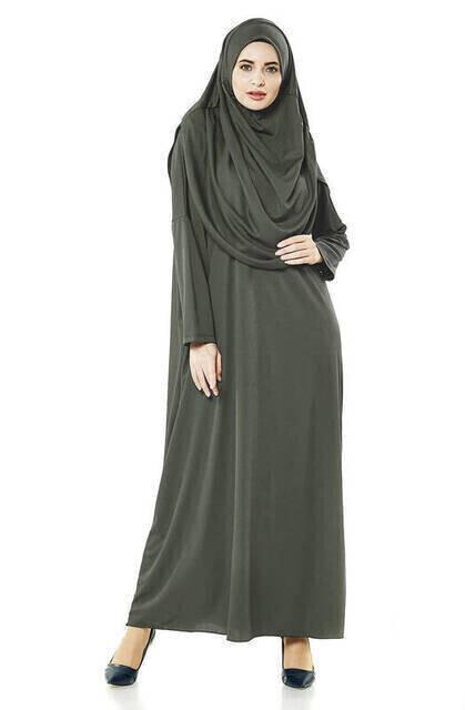 Anne Kız Tek Parça Namaz Elbisesi Set 2