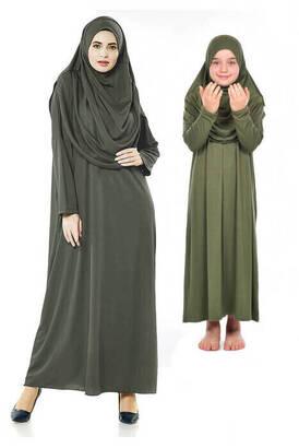 İhvan - Anne Kız Tek Parça Namaz Elbisesi Set 2