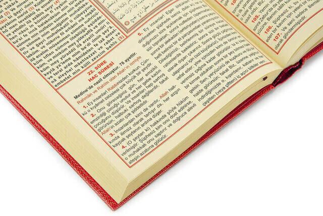 Arapça Türkçe Okunuşlu ve Mealli Kuranı Kerim - Üçlü Kuran - Orta Boy - Seda Yayınevi - Bilgisayar Hatlı