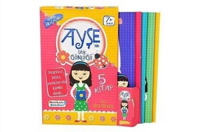 Mavi Lale Çocuksu - Ayşe's Goodness Diary Hadith Stories Book Set (5) -1131