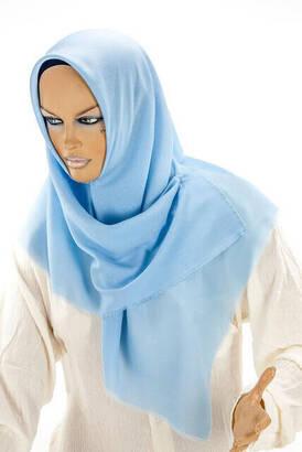 İhvan - Aysim Pamuklu Taşlı Mavi Baş Örtüsü