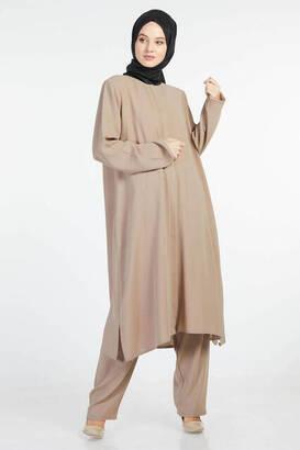 İsra Moda - Bayan Hac Umre Kıyafeti Kahve
