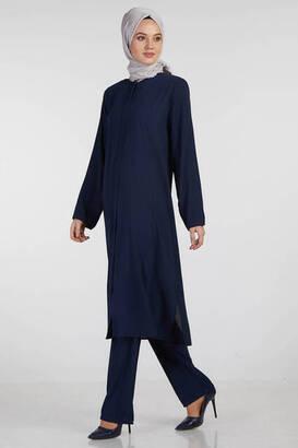İsra - Bayan Hac Umre Kıyafeti Lacivert