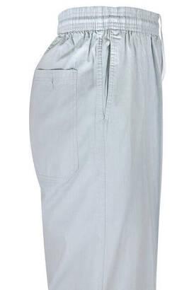 Berat Keten Gri Erkek Şalvar - Hac Umre Pantolonu