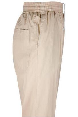 Berat Keten Koyu Krem Erkek Şalvar - Hac Umre Pantolonu