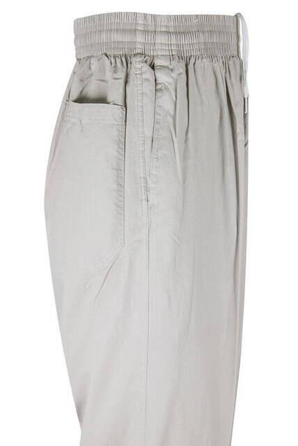 Berat Keten Krem Erkek Şalvar - Hac Umre Pantolonu
