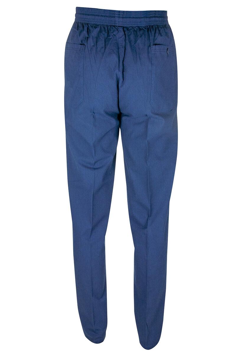 Berat Keten Lacivert Erkek Şalvar - Hac Umre Pantolonu