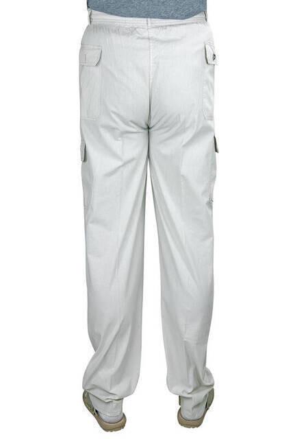 Berat Lüks Keten Açık Gri Erkek Şalvar - Hac Umre Pantolonu