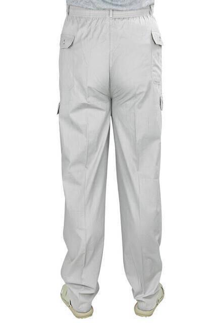 Berat Lüks Keten Gri Erkek Şalvar - Hac Umre Pantolonu