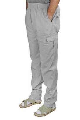 İhvan - Berat Lüks Keten Koyu Gri Erkek Şalvar - Hac Umre Pantolonu