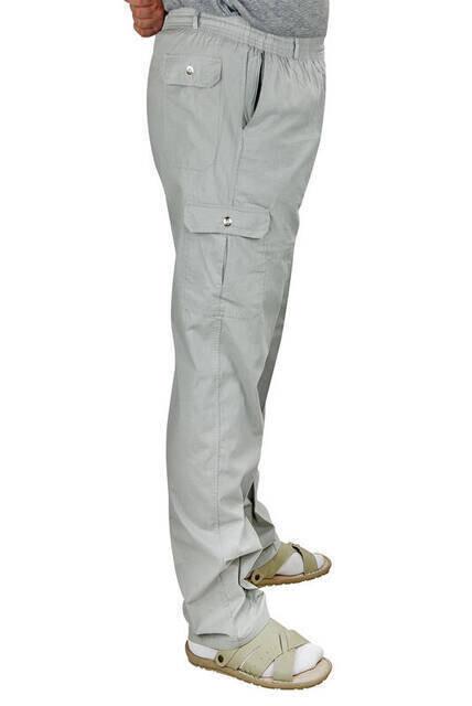 Berat Lüks Keten Koyu Gri Erkek Şalvar - Hac Umre Pantolonu