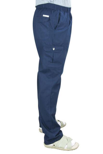Berat Lüks Keten Lacivert Erkek Şalvar - Hac Umre Pantolonu
