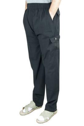 İhvan - Berat Lüks Keten Siyah Erkek Şalvar - Hac Umre Pantolonu
