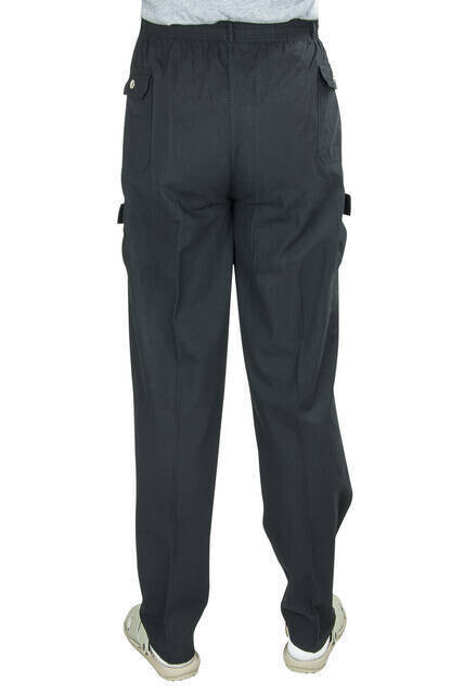 Berat Lüks Keten Siyah Erkek Şalvar - Hac Umre Pantolonu