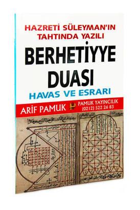 Pamuk Yayınevi - Berhetiyye Duası Havas ve Esrarı