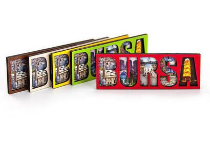 İhvan - Bursa Visual Wood Magnet Gift