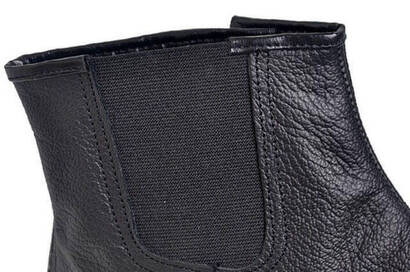Calf Leather Mest - Lined - Elastic - Thick Mest