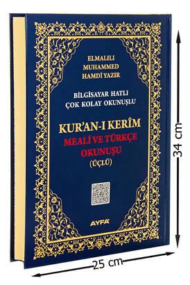 Ayfa Yayınevi - Cami Boy Kuranı Kerim Meali ve Türkçe Okunuşu - Üçlü