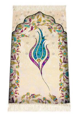 İhvan - Children's Prayer Rug - Thin - Tulle - Blue Color