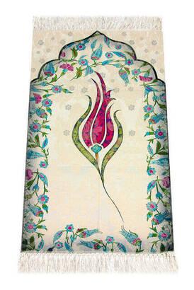 İhvan - Children's Prayer Rug - Tulip Pattern - Fuchsia Color
