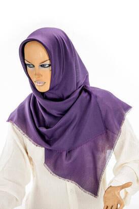İhvan - Cotton Board Untidy Purple Colored Blanket