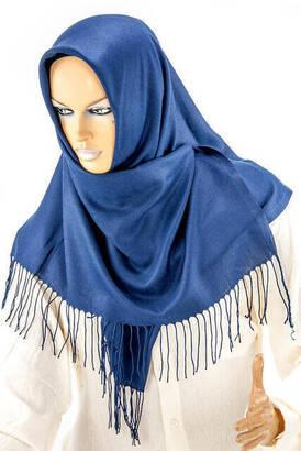 İhvan - Cotton Pashmina Shawl Light Navy Blue
