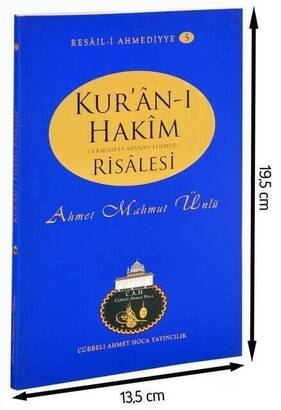 Cübbeli Ahmet Hoca Yayıncılık - Cübbeli Ahmed Hoca Kuran-ı Hakim Risalesi-1129