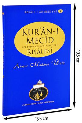 Cübbeli Ahmet Hoca Yayıncılık - Cübbeli Ahmed Hoca Kur'anı Mecid Risalesi-1156