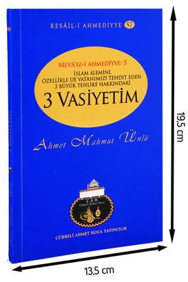 Cübbeli Ahmet Hoca Yayıncılık - Cübbeli Ahmed Hoca Üç Vasiyetim Kitabı-1190