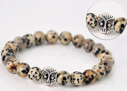 İhvan - Dalmacian Jasper Stone Bracelet