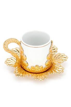 İhvan - Damla 6 Piece Coffee Presentation Cup Set Yellow