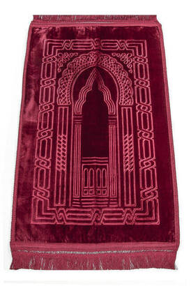 İhvan - Deluxe Soft Seccade - Kırmızı Renk