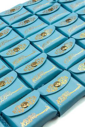 İhvan - Deri Çantalı Mini Kuranı Kerim - Sade Arapça - Mavi Renk - 25 Adet