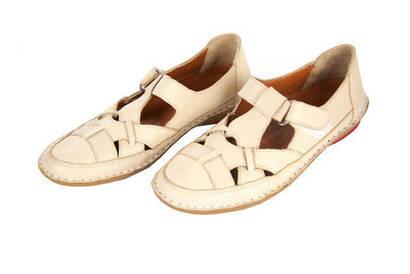 İhvan - Deri Ortopedik Bayan Ayakkabı - Krem