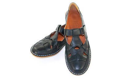 Deri Ortopedik Bayan Ayakkabı - Siyah